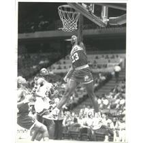 1987 Press Photo Wayman Tisdale Indiana Pacer Basketbal - RRQ67237