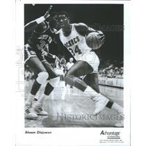 1987 Press Photo Akeem Olajuwon - RRQ67407