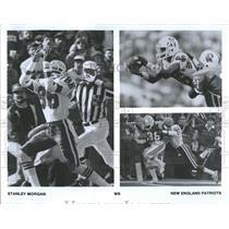 1987 Press Photo Stanley Morgan New England Patriots NFL Wide Receiver