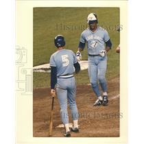 1987 Press Photo George Bell Toronto Blue Jays Baseball Player - RRQ72907