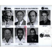 1988 Press Photo Donald Carter Dallas Mavericks Basket - RRQ45487