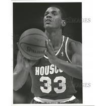 1988 Press Photo Otis Thorpe Basketball Houston Rockets - RRQ64103