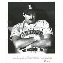 1988 Press Photo Kansas City Royal Steve Balboni Seattle Mariners Trade