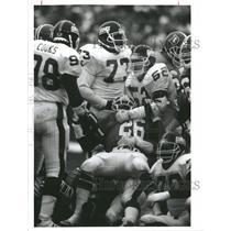 1989 Press Photo Humphrey Denver Broncos NY Giants NFL - RRQ63095