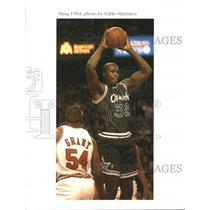 ca. 1990 Press Photo Shaquille O'Neal Orlando Magic - RRQ11467