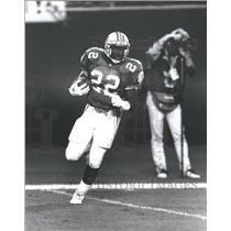 1990 Press Photo Cornerback Tim McKyer Touchdown - RRQ63351