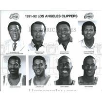 1991 Press Photo 1991-92 Los Angeles Clippers team - RRQ36127