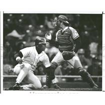 1991 Press Photo Blue Jay Greg Meyers Lou Whitaker - RRQ39201