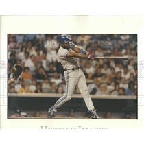 1991 Press Photo Joe Carter of the Toronto Blue Jays batting against New York Ya