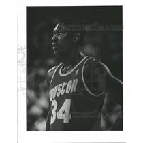 1992 Press Photo Hakeem Olajuwon Houston Rockets NBA - RRQ55363