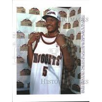 1994 Press Photo Jalen Rose Draft Pick Denver Nuggets - RRQ11469