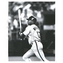 1995 Press Photo Florida Marlins Darrell Whitmore At Bat - RRQ71141