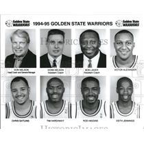 1995 Press Photo Golden State Warrior Basketball Lineup - RRQ33813