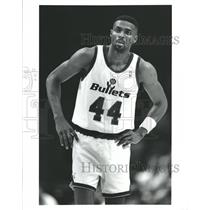 Press Photo Washington Bullets Harvey Grant NBA - RRQ62387