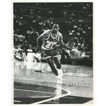 Press Photo Houston Rockets Floyd Dribbling Basket - RRQ62403