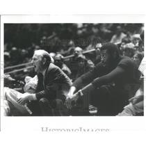 Press Photo Red Auerbach, coach of the Boston Celtics - RRQ66521