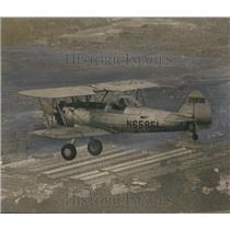 1968 Press Photo Jack Walter Flies Biplane from Huntsville to Birmingham, AL