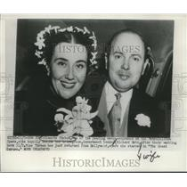 1950 Press Photo Blanche Thebom and Richard Metz on their wedding day