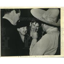 1934 Press Photo Will and Mrs. Rogers at Christmas Benefit in Los Angeles