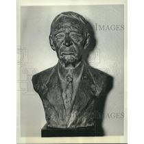 1936 Press Photo Bust of Melville E. Stone in New York by Frances Savage