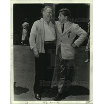 """1940 Press Photo Mickey Rooney and father Joe Yule, in """"Judge Hardy and Son"""""""