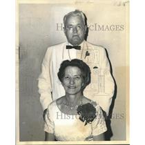 1969 Press Photo Mary Cooper Court. Order of the Amaranth Royal Patron & Matron