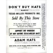 1964 Press Photo Boycott United Hatters Union - RRU68963