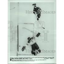 1987 Press Photo Olympic Ice Skaters at XV Winter Games in Calgary - hcx11999