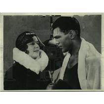 """1930 Press Photo Olga Chekhova and boxer Max Schmeling in """"Love in the Ring"""""""
