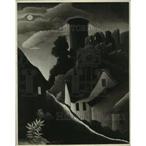 "1942 Press Photo Henri Rousseau's ""The Fortified Castle"" - ney31449"