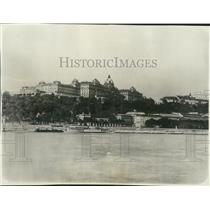 1929 Press Photo Admiral Horthy Hungary's Regents Palace in the Danube