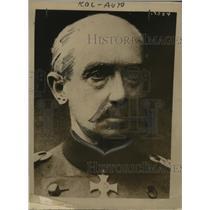 1918 Press Photo Gen. Otto Von Below Command Great German Army in Great Assault