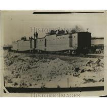 1929 Press Photo U.S. Guns On The Top Of The Train - nem65607