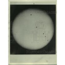1932 Press Photo sun spots on the surface of the sun - ney31395