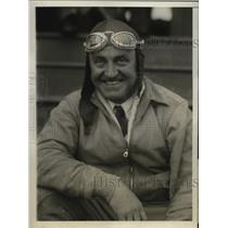 1930 Press Photo Herbert Partridge one of the crews of monoplane to Buenos Aires