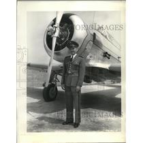 1940 Press Photo J. Macedo of Brazilian Air Corps leads delivery of bombers
