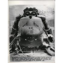 1962 Press Photo A Navy HSS-2 helicopter being tested at Naval Air Test Center