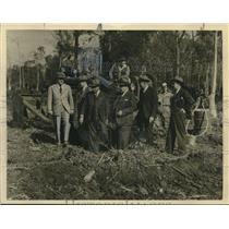 1941 Press Photo Groundbreaking of 800-acre Moisant Air Field in Kenner, LA