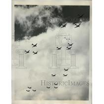 1947 Press Photo Bomber Planes at the All American Air Maneuvers - nem63510