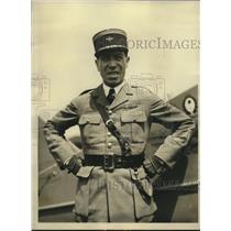 1929 Press Photo Lieut. Carlos Zegarra Bound for Peru is His Bellanca Plane