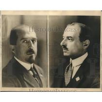 1925 Press Photo John Giuriati & Alfredo Rocco members of Italian Cabinet