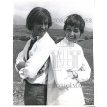 1969 Press Photo Deirdre Flynn with actor stunt double - mjp13298