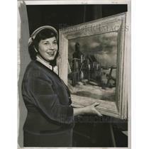 1951 Press Photo Helen Boswell Howard, artist, wife of Director of Art Museum
