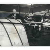 1970 Press Photo Glenn Messer of the Birmingham Aero Club with 1900 machine