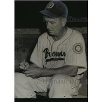 "1951 Press Photo Dothan Browns - Holt ""Cat"" Milner, Baseball Player, Alabama"