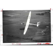 1977 Press Photo High performance sailplane in air in Texas - hca23707