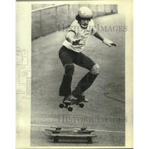 1966 Press Photo Greg Arbic at Michigan Jaycees Skateboard Tournament