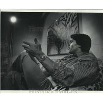 1971 Press Photo World famous body builder, Arnold Schwarzennegger, in Milwaukee