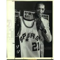 1984 Press Photo San Antonio Spurs basketball player Alvin Robertson - sas13247