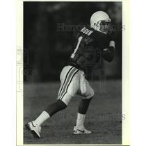 1991 Press Photo Houston Oilers football quarterback Warren Moon - sas13220